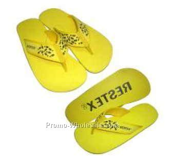 Lady's Yellow/Black Beach Slippers (Size 6-10)