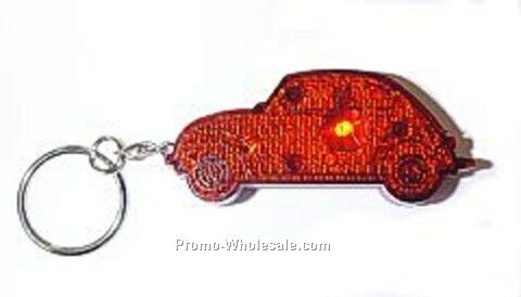 Light Up Reflector (V-w Bug) Keychain