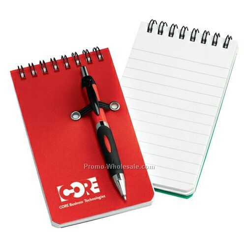 Nerde Mini Pocket Notebook W/Pen (1 Day Shipping)