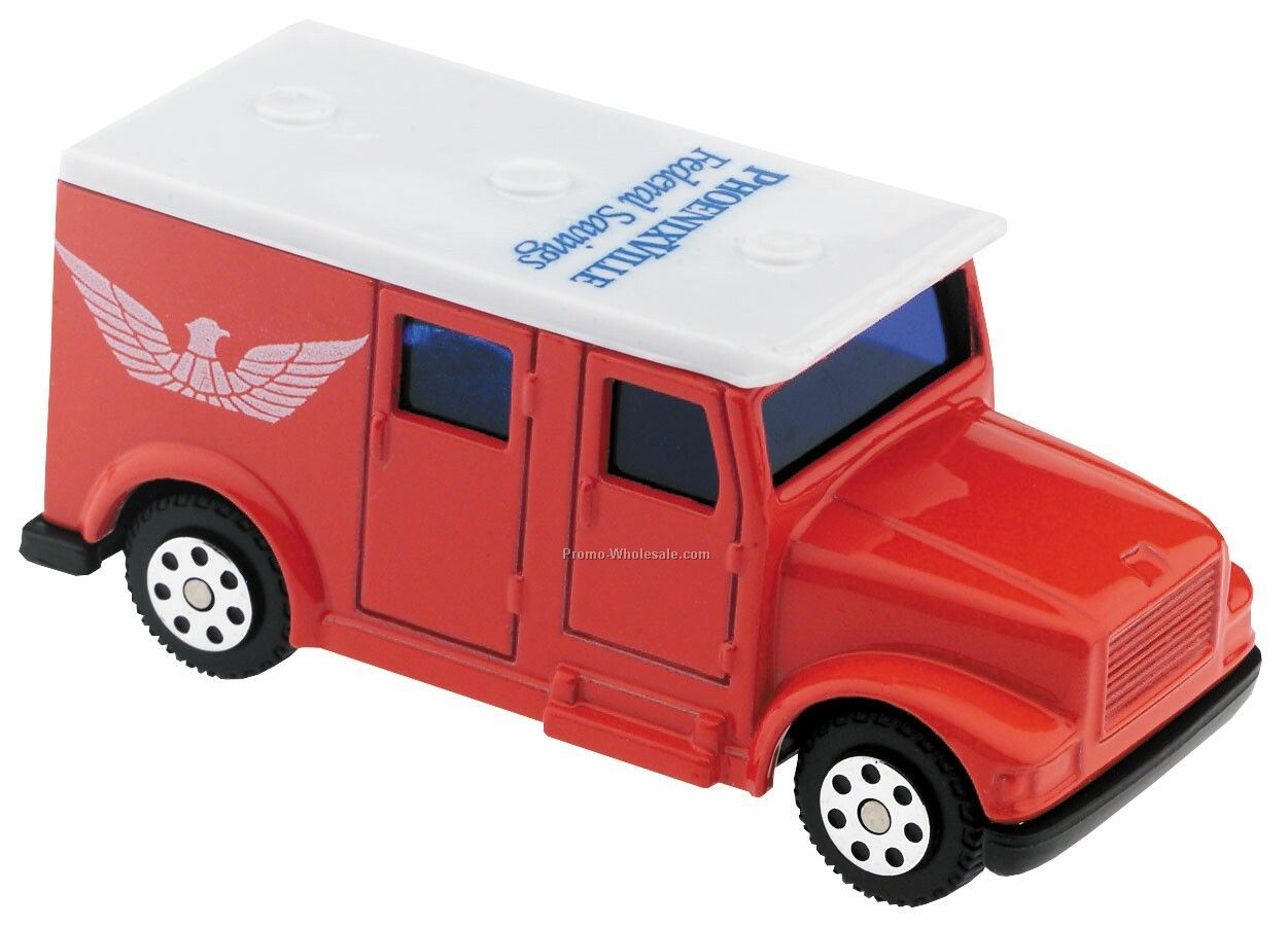 Red/ White Armored Car Die Cast Mini Vehicles