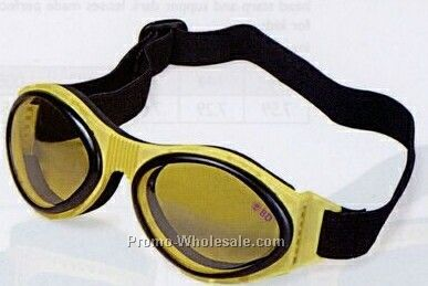 Rubber Frame Goggles W/ Shock Absorbent Guard