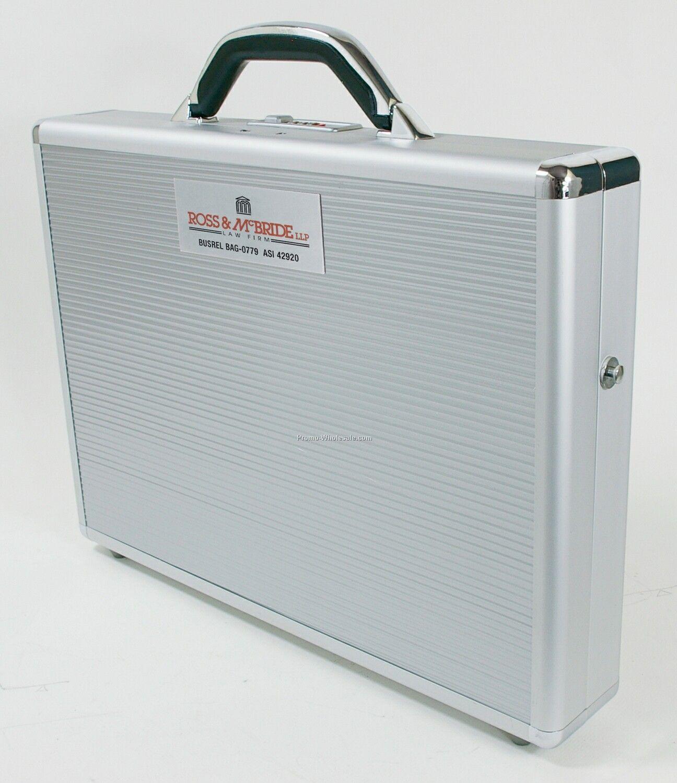 """Slim Aluminum 17"""" Laptop Briefcase"""