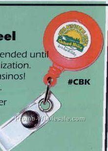 Unique Retractable Badgeback/ Clickback Locking Reel