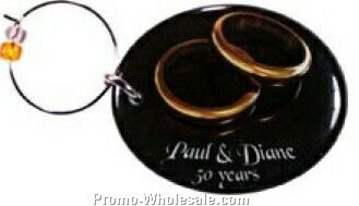 Wine Charms (1.1 To 2 Sq. In. Double Sided Domed)