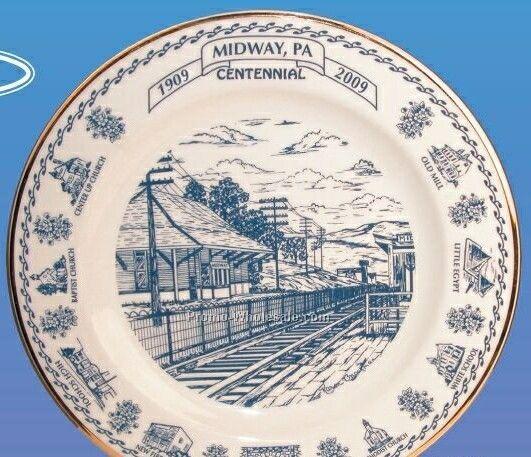 "10"" Ceramic Plain Rim Plate"