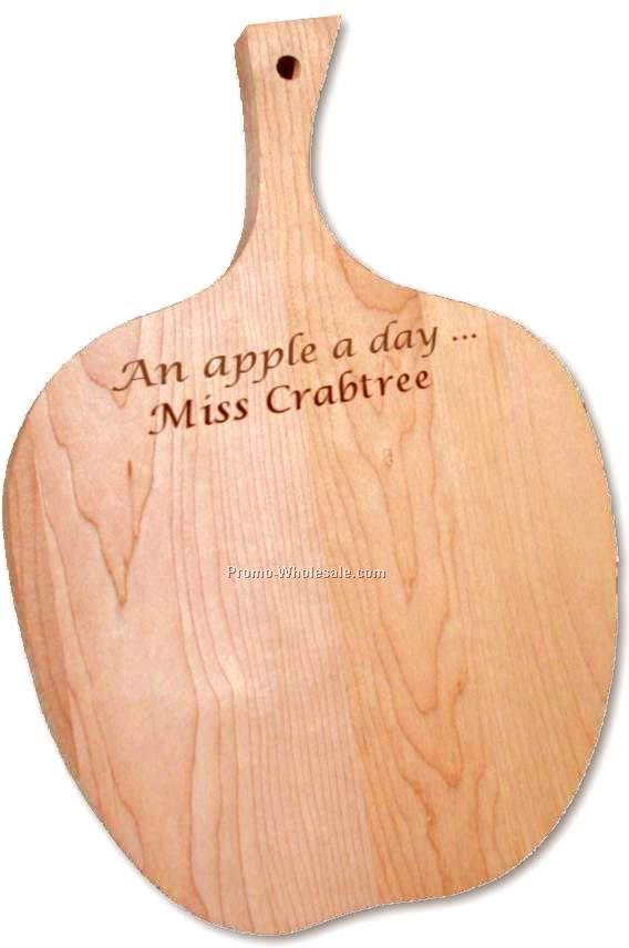 """13""""x8""""x3/4"""" Apple Cutting Board - Hand Cut Wood (Laser Engraved)"""