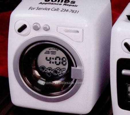 "2-3/4""x3-1/4""x3"" Washing Machine Shaped Plastic Alarm Clock"