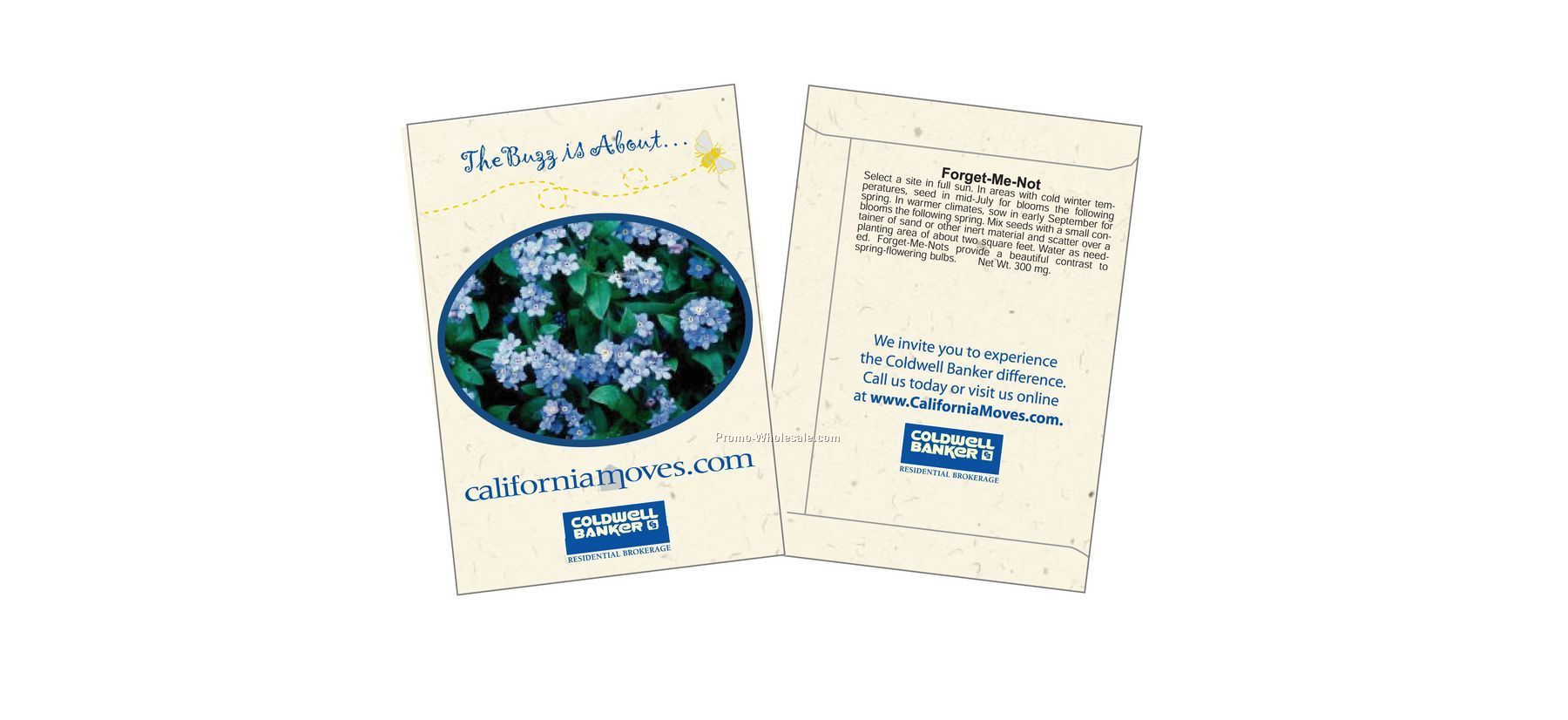 "3-1/4""x4-1/2"" Forget-me-not Seed Packet (2 Color)"