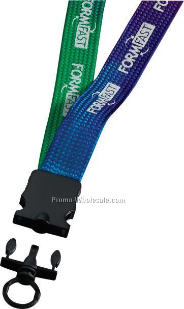"""3/4"""" Tie-dye Multi-color Lanyard With Snap Buckle Release & O-ring"""
