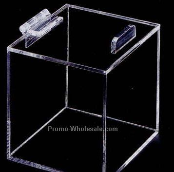 "Acrylic Display Box W/ Hinged Lid - 9""x6""x9"" (Not Shown)"