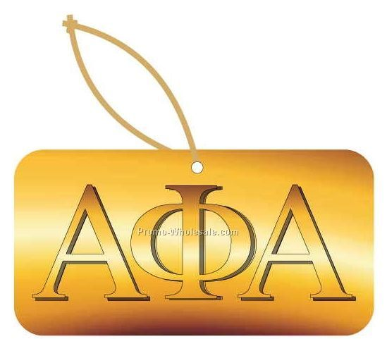 Alpha Phi Alpha Fraternity Letters Ornament W/ Mirror Back (8 Sq. Inch)