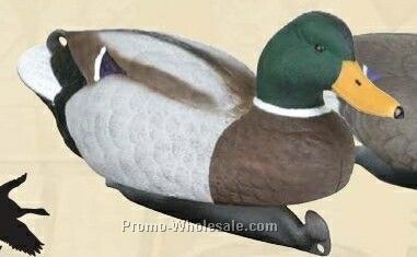 Classic Mallard Duck Decoy W/ Weighted Keel - 6 Drake & 6 Hen
