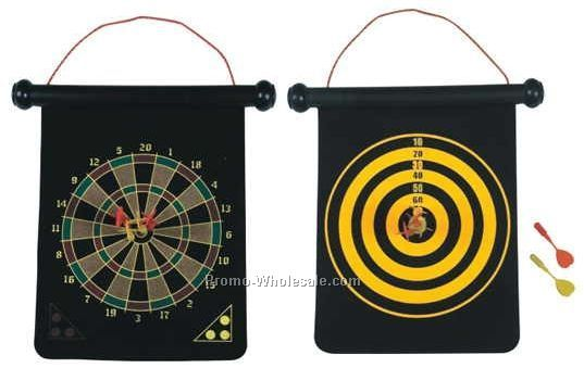 Deluxe 2 Sided Dart Board Set