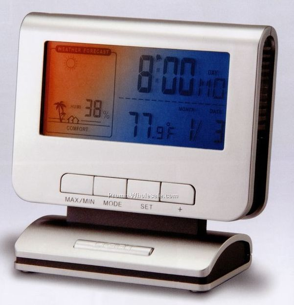 Digital Alarm Clock With Calendar, Weather Forecast And Temperature