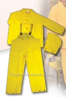 Fluorescent Orange Classic Protective Rain Suit (S-xl)
