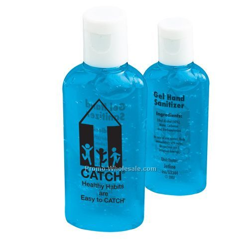 Gel Hand Sanitizer With Blue Tint - 1 Oz. Oval Bottle