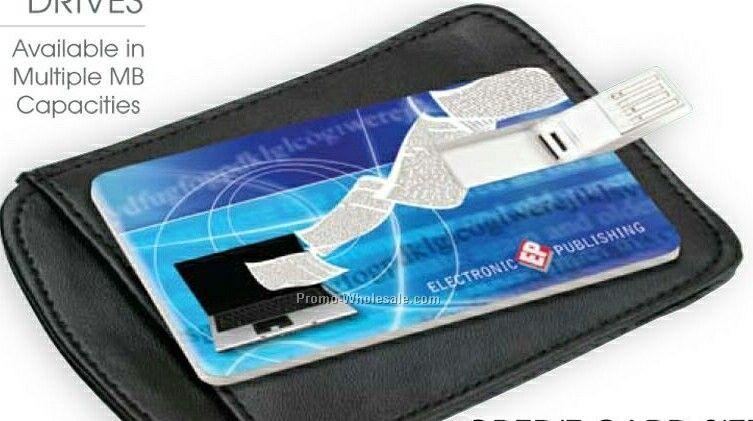 "Giftcor Card Sized USB Flash Drive 3-3/8""x2-1/8""x3/32"""