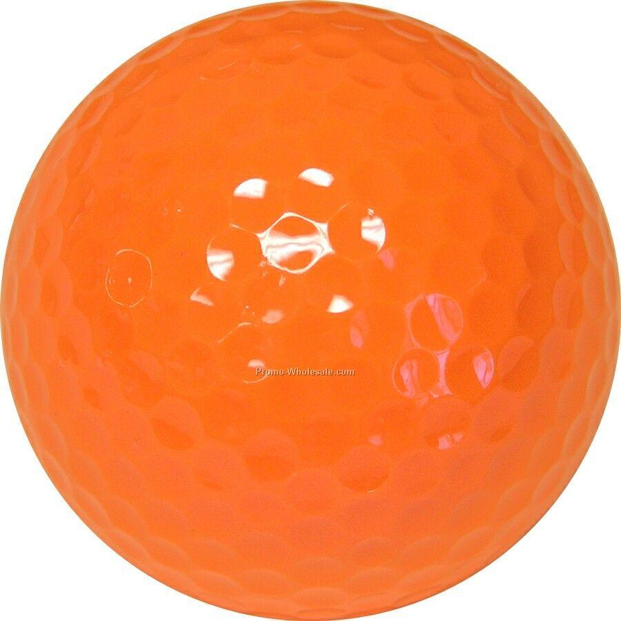 Golf Balls - Orange - Custom Printed - 4 Color - Clear 3 Ball Sleeves