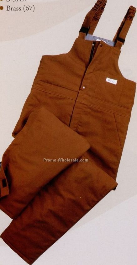 Indura Ultra Soft Brown Duck Insulated Bib Overall (4xl)