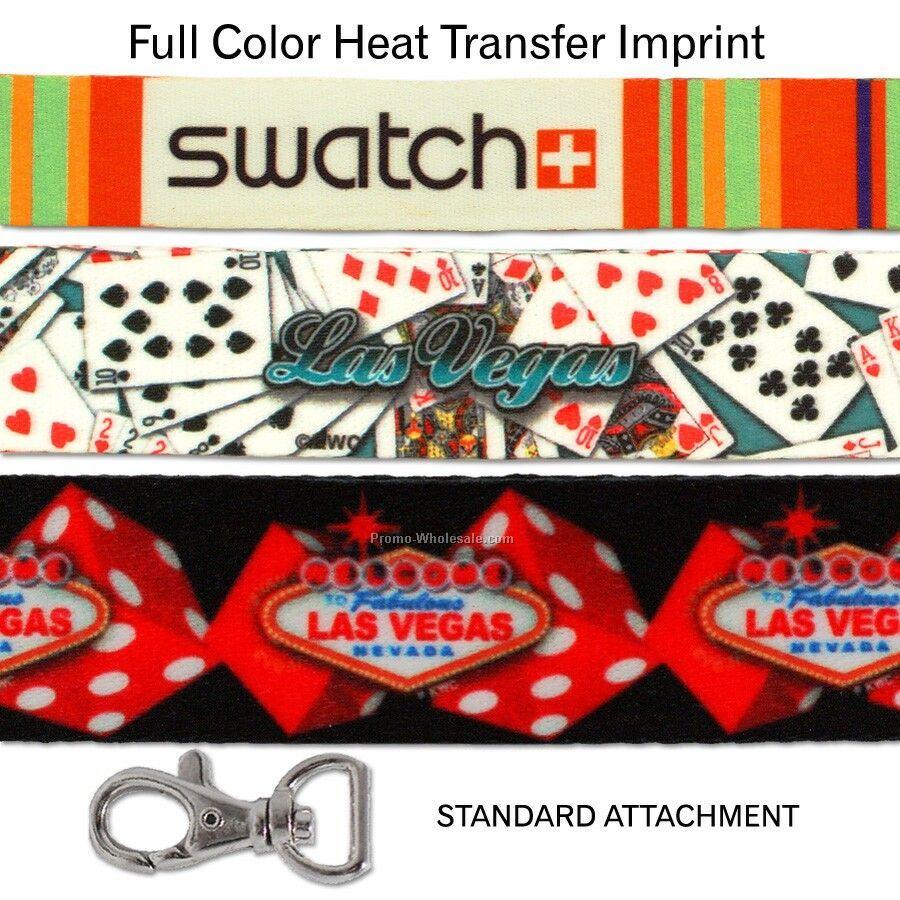 """Lanyard (3/4"""" Width) - Full Color Imprint"""