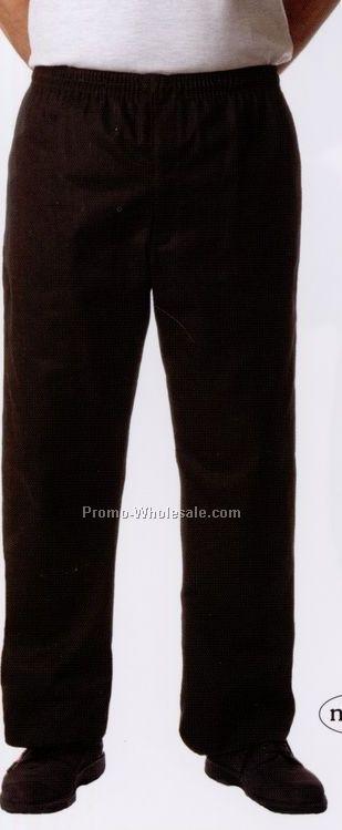 Men's Black W/ White Chalk Stripe Tailored Chef Pants (Small)