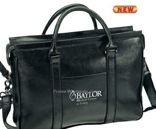 Milan Slim Leatherette Briefcase