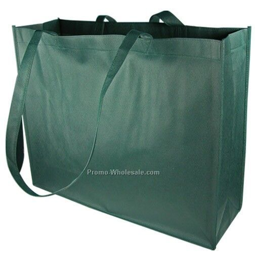 Non Woven Carry All Tote - Forest Green
