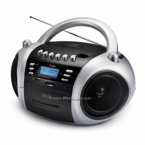 P-mp3 CD/CD W/Cassette/Radio/Memory Slot - Black