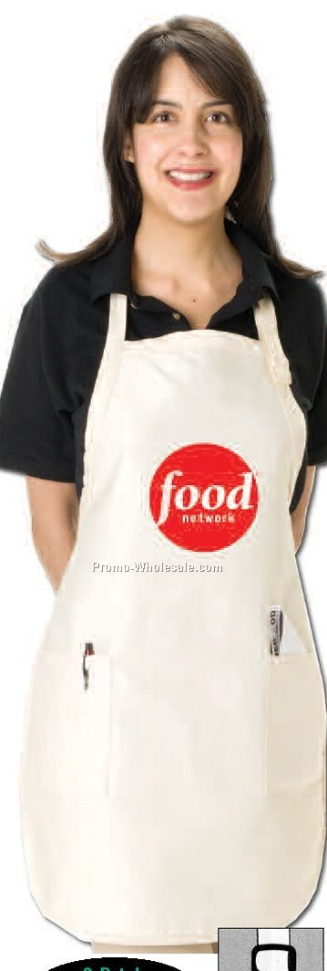 "Q-tees Full Length Apron With Pockets - Neutrals (22""x30"")"