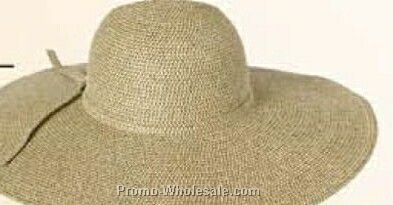 "Straw Hat W/ 6"" Floppy Brim (One Size Fits Most)"