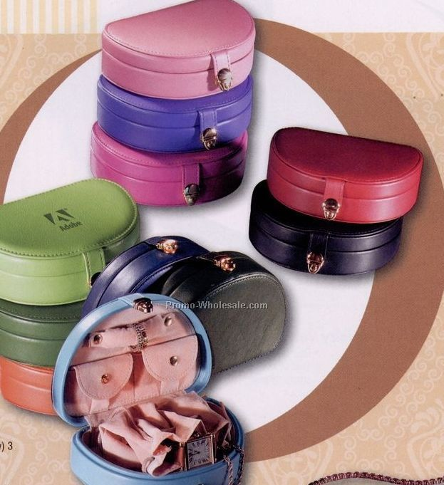 "Synthetic Leather Mini Jewelry Box (3-3/4""x5-1/4""x1-5/8"")"
