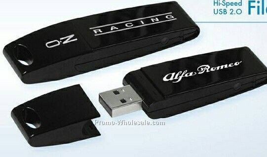 USB 2.0 Slipstream File Safe Flash Drive Fs