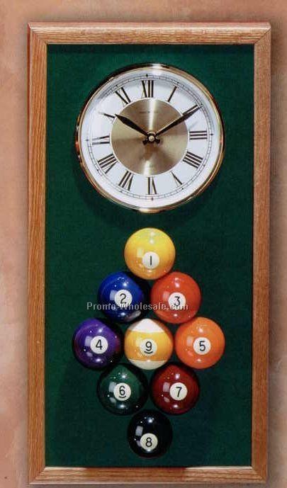 """10""""x20-1/2"""" Mini Billiard Series Clock"""