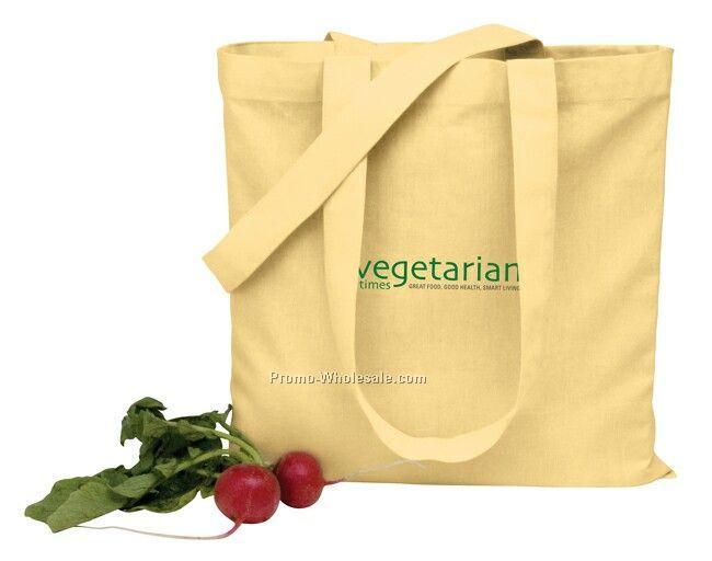 "14""x14"" V Natural Organic Colored Flat Tote Bag"