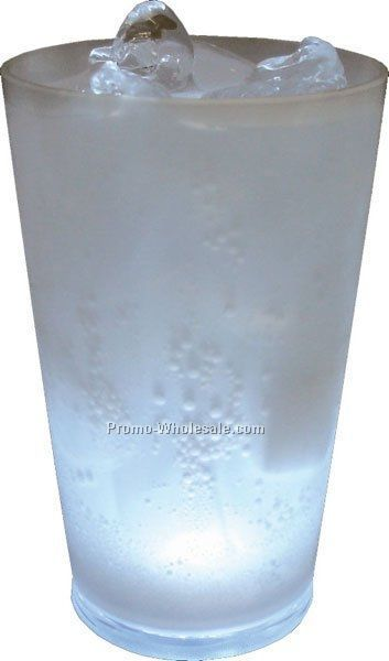 16 Oz. Frosted Light Up Blinking Pint Glass