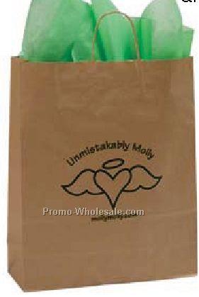 "16""x6""x19"" Natural Kraft Paper Shopping Tote Bags"