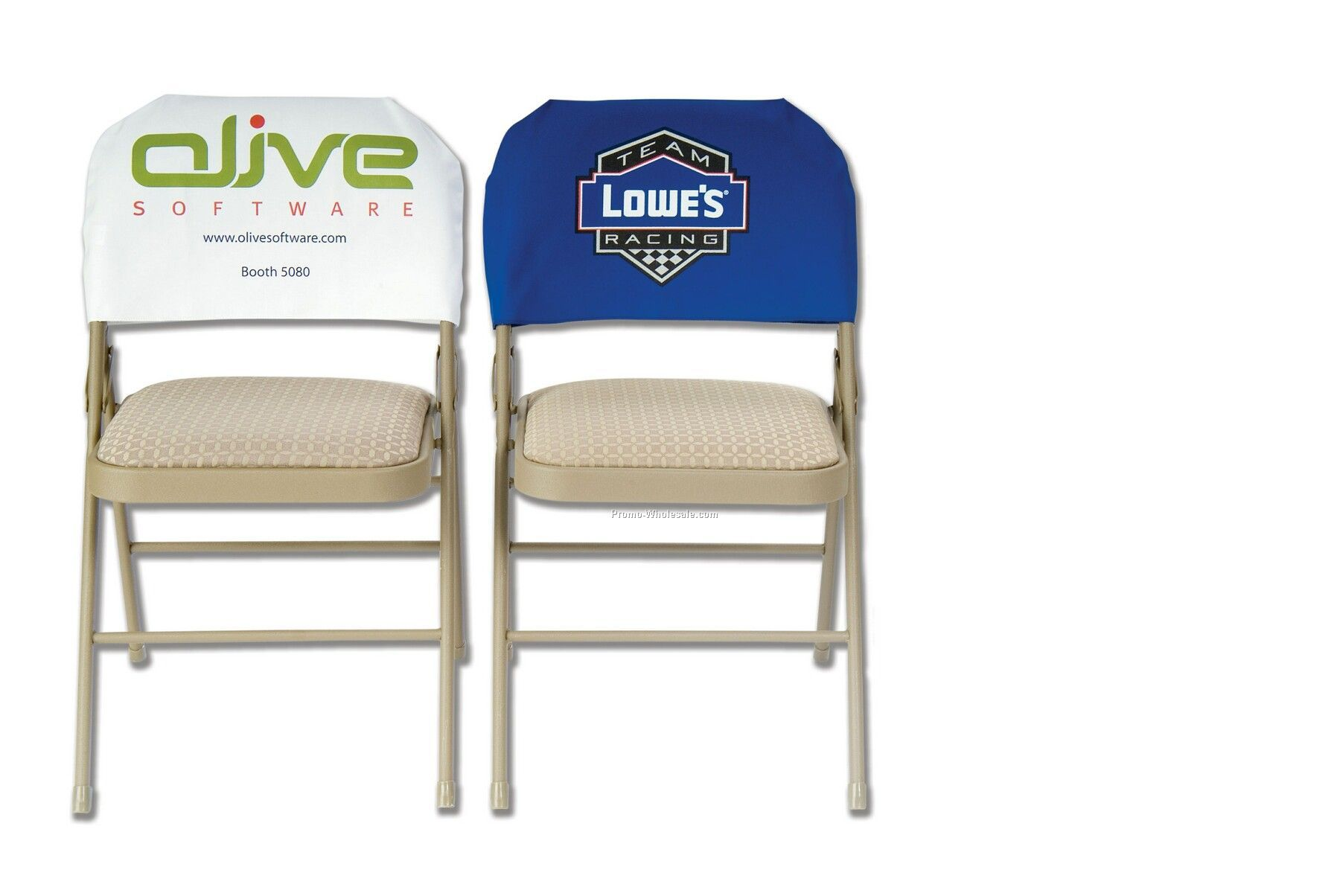 """20""""x11-1/2"""" Fitted Twill Chair Back Cover (Printed)"""