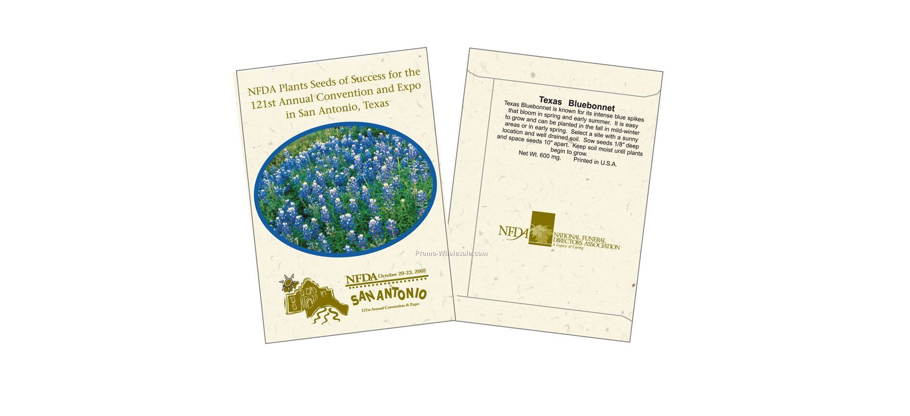 "3-1/4""x4-1/2"" Texas Bluebonnet Seed Packet (1 Color)"