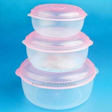 3pcs Round Food Container
