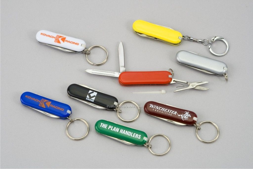 5-function Pocket Knife Keychain Tool