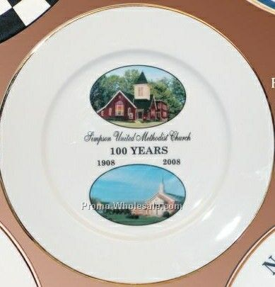 """6-1/2"""" Porcelain Plain Rim Plate"""