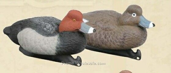 Classic Redhead Duck Decoy W/ Weighted Keel