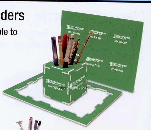 Dual Color Cube Pen Holder & Puzzle