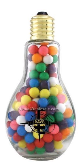 Empty Jumbo Light Bulb Candy Container (2 Day Service)