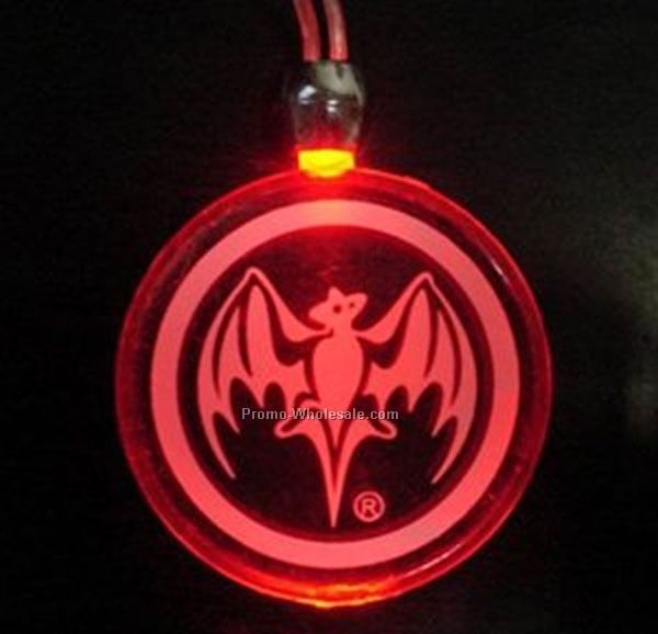 Frosted Red Light Up Pendant Necklace