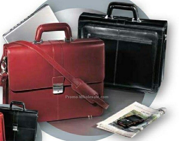 Genuine Leather Executive Mobile Desk Laptop Briefcase
