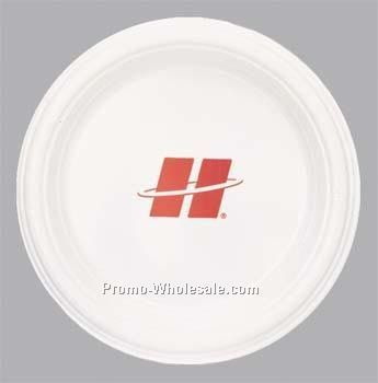 "High Line 9"" White Plastic Plate"