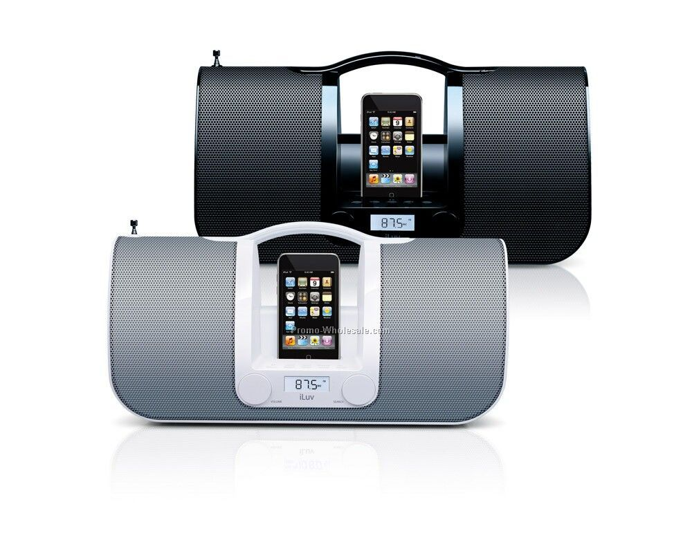 Iluv Portable Ipod Audio System With Radio - Blk