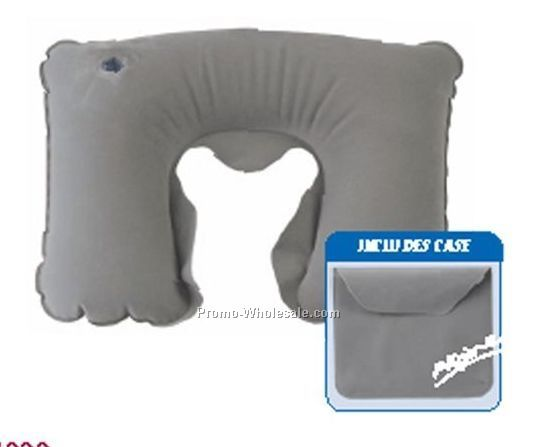 Inflatable Neck Support Pillow W/ Case