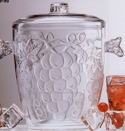 Jubilee 3-1/2 Qt. Double Wall Ice Bucket With Embossed Grapes
